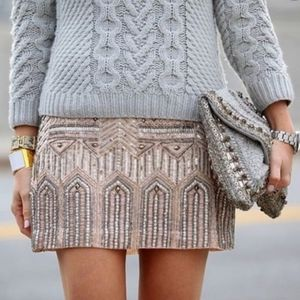 Club Monaco Beaded Skirt 00